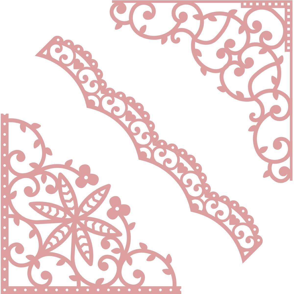 Intricut Flourish Dies 3 Pieces | Cutting Files ...