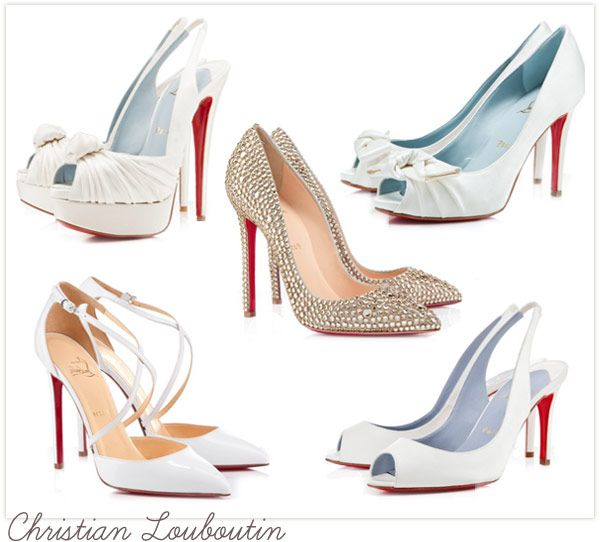 Christian Louboutin Bridal Shoes Blue Sole Heels