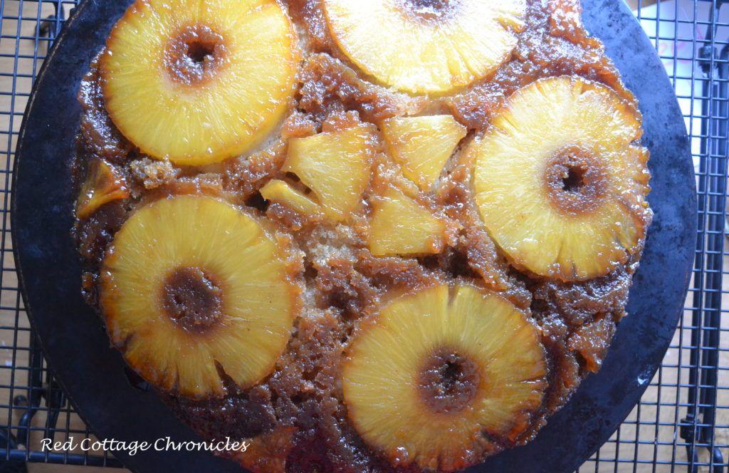 Salted Caramel Pineapple Upside Down Cake