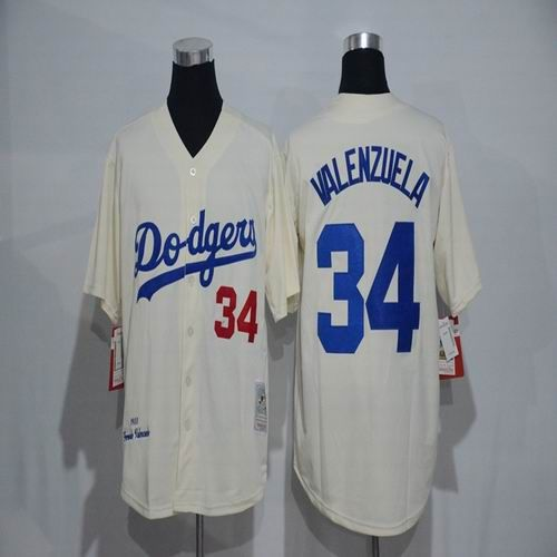 Mlb New Los Angeles Dodgers Jersey Mens 34 Fernando Valenzuela Ivory 1955 Throwback Cool Base Baseball Jer Baseball Jersey Men Dodgers Jerseys Baseball Jerseys