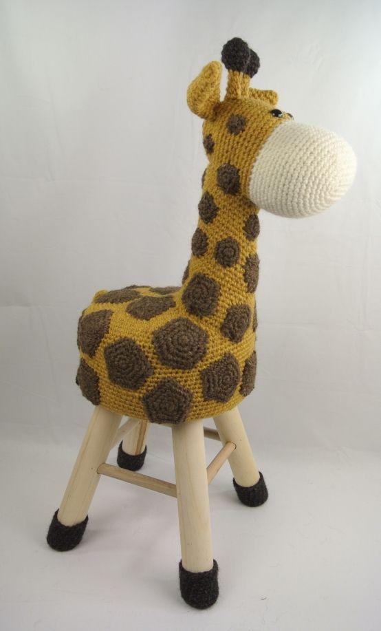 Dieren Kruk Haken Giraffe Haakpret I Want Ganchillo Croché