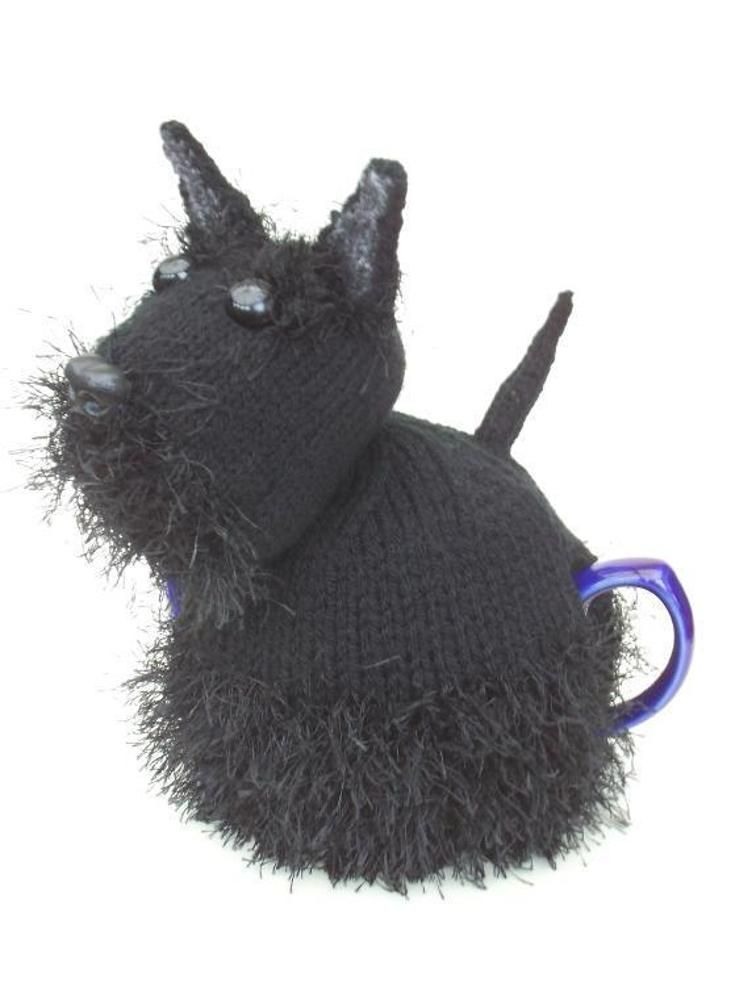 Scottie dog tea cosy knitting pattern