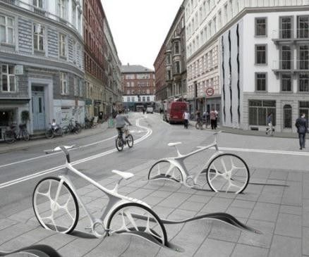 Creative Bicycle Stand Design It Looks Like A Lawsuit Waiting To