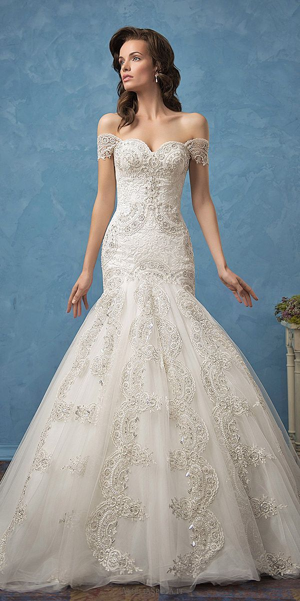 Romantic Off The Shoulder Wedding Dresses ❤ See more: http://www ...