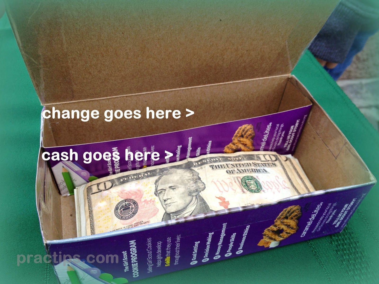 Girl scout scrapbook ideas - Practips Quick Tip Tuesday Girl Scout Cookie Money Box Don T Sell