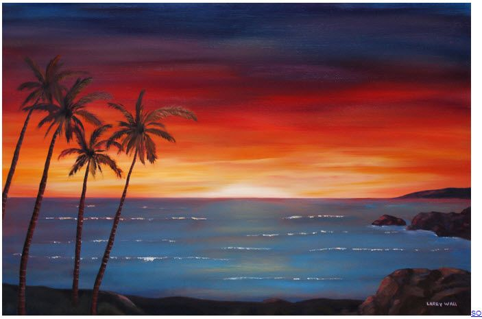 Next Painting Sunset Beach Sunset Canvas Painting Silhouette