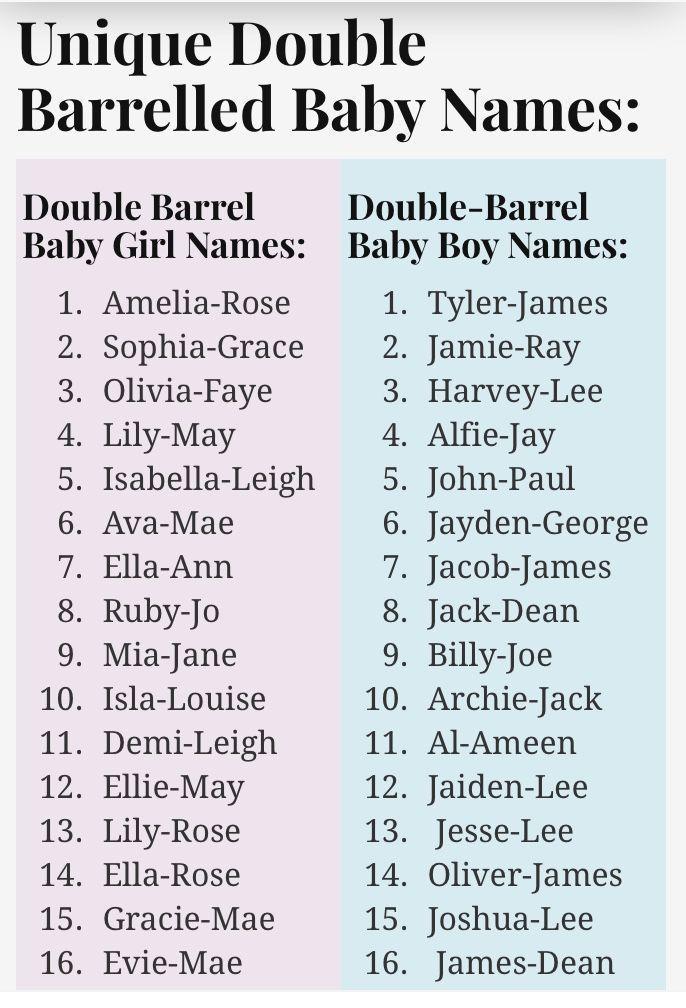 Double Barrel Babynamen - Baby Boy Name #babyboy #babyname #babyboyname - Doppel #babygirlnames