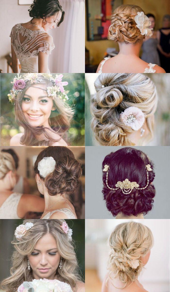 Quelle coiffure de mariage pour quel visage ? | Coiffure cheveux mi court, Coiffure mariage ...
