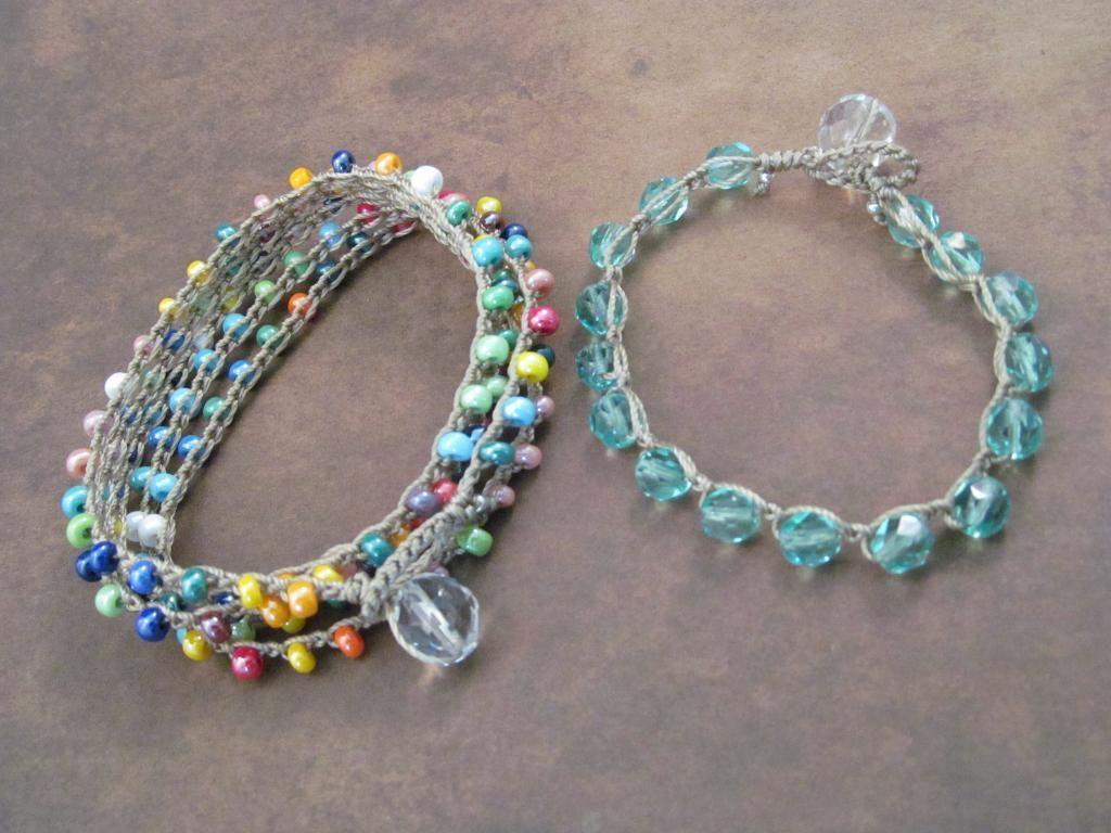 crochet jewelry - Pesquisa do Google | Pulseiras | Pinterest