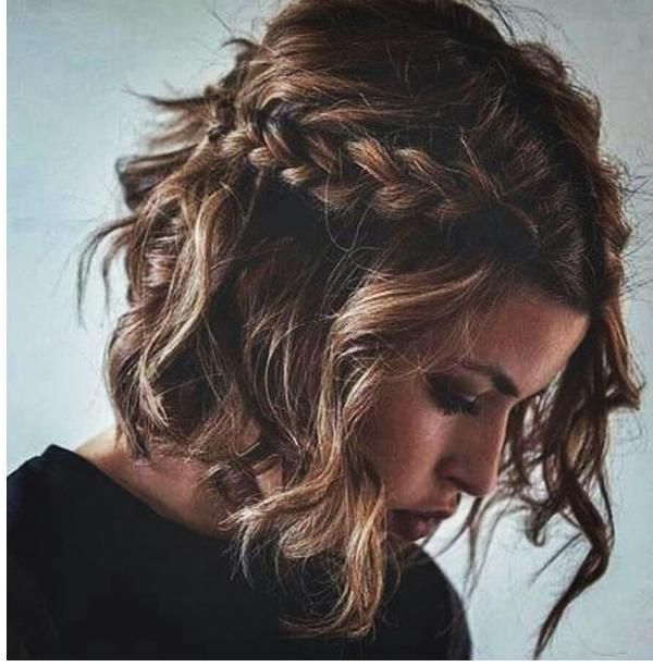 Flechtfrisur Kurze Haare Trend Frisuren Fur Frauen 2018 Geflochtene Frisuren Flechtfrisuren Frisur Hochgesteckt