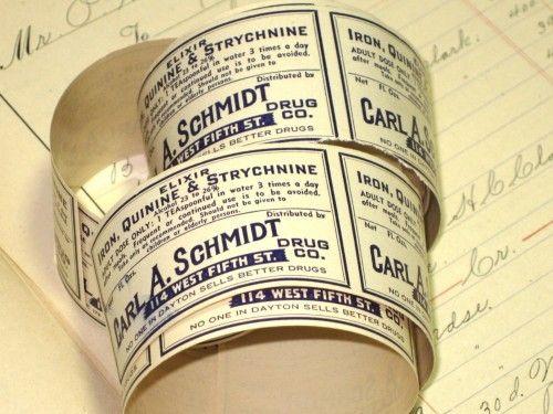 Schmidt Vintage Pharmacy Medicine Poison