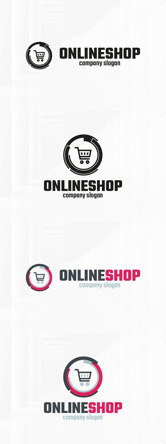 Online Shop Logo Template Marketing Graphic Design Pinterest