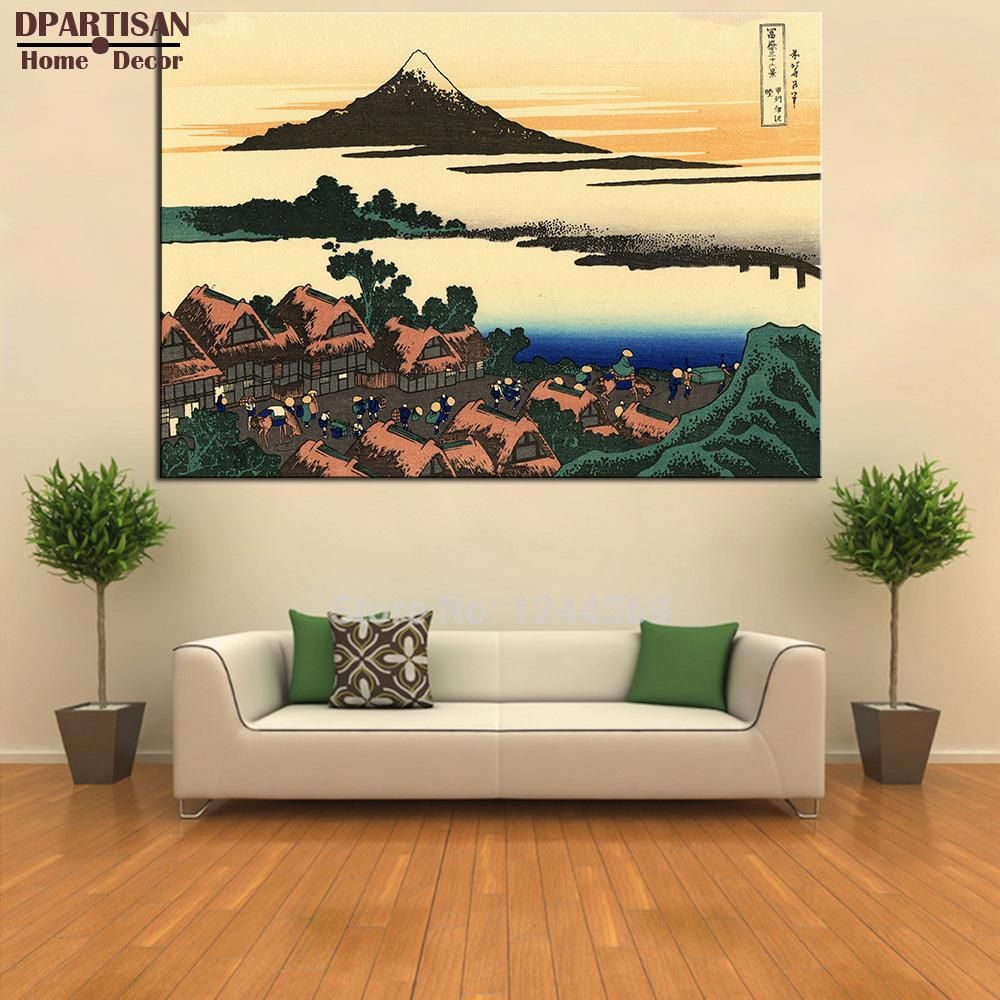 Dpartisan Dawn At Isawa In The Kai Province Poster Painting By Katsushika Hokusai Art Prints On Canvas For Home Decoration Arts Canvas Art Prints Home Decor Decor
