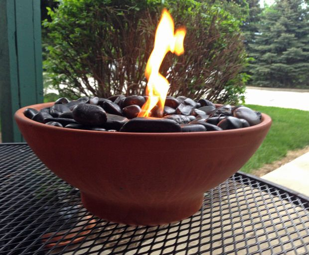 Diy Tabletop Fire Bowls Outdoor Diy Projects Diy Fire