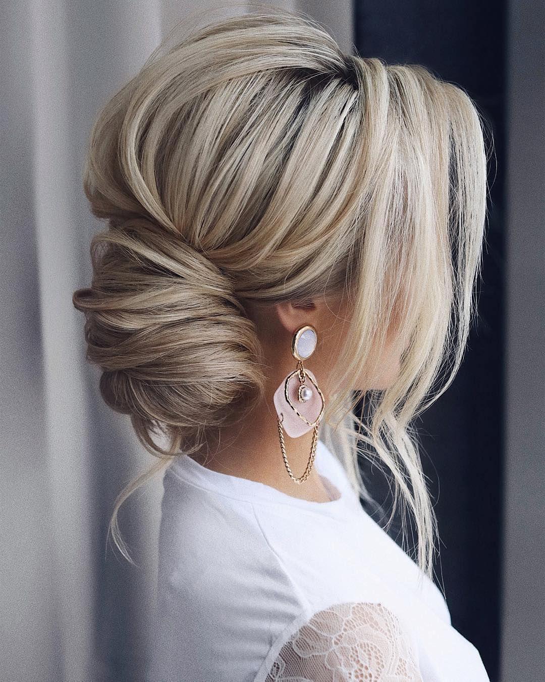 Peinado de novia fijado – 30 ideas maravillosas – caja de boda