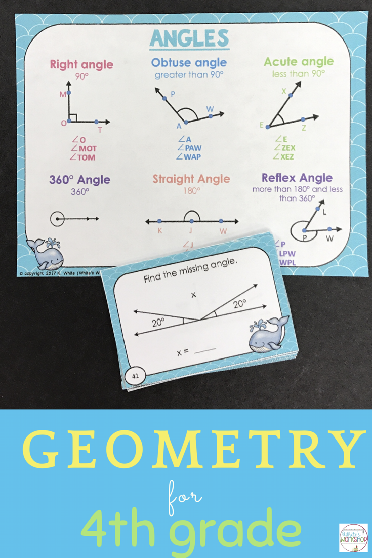 Geometry Vocabulary and Task Cards | White\'s Workshop | Pinterest ...