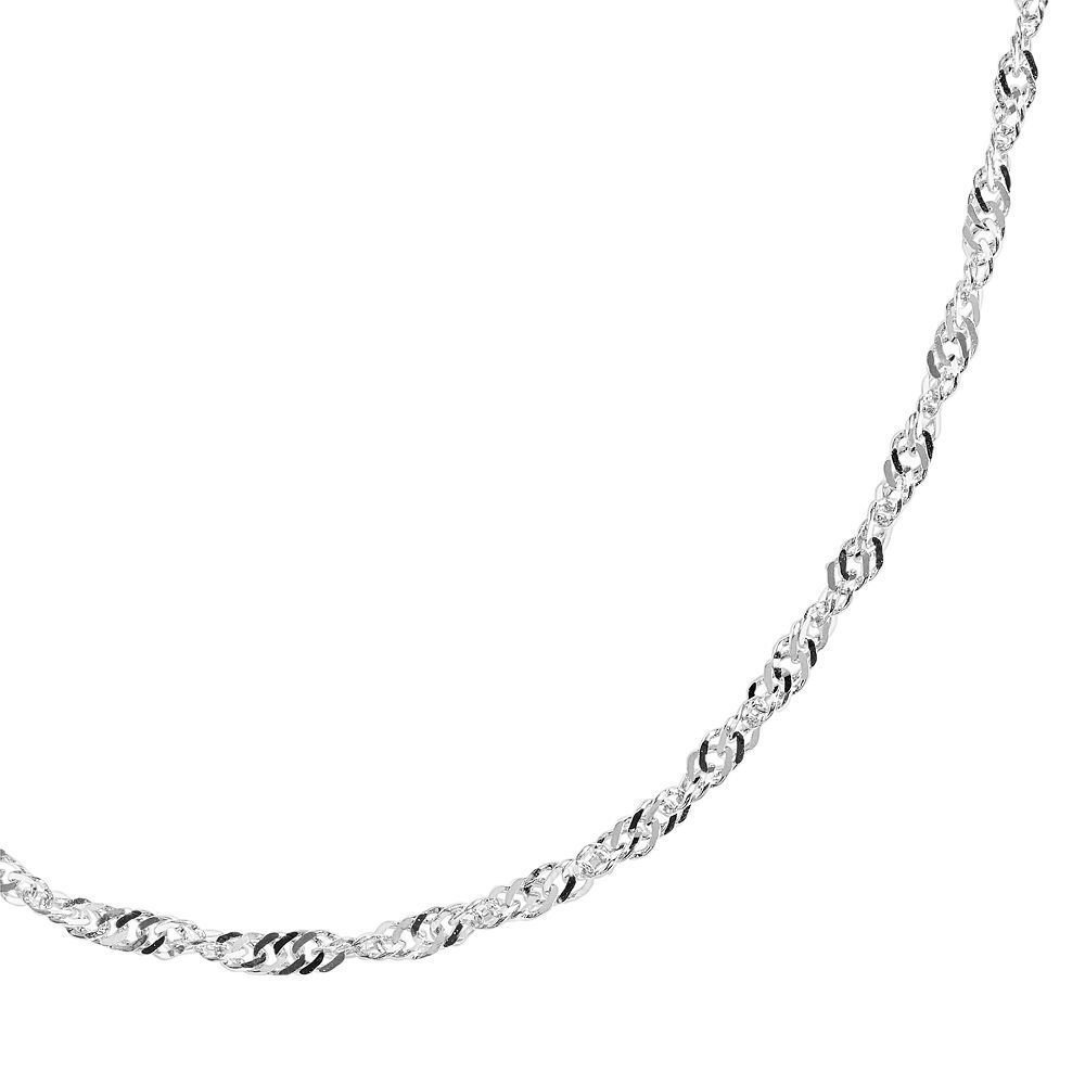 Kohlus primrose sterling silver lightweight chain necklace in