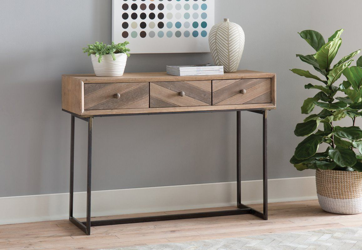 Wood And Metal Console Table Metal Console Table Console Table
