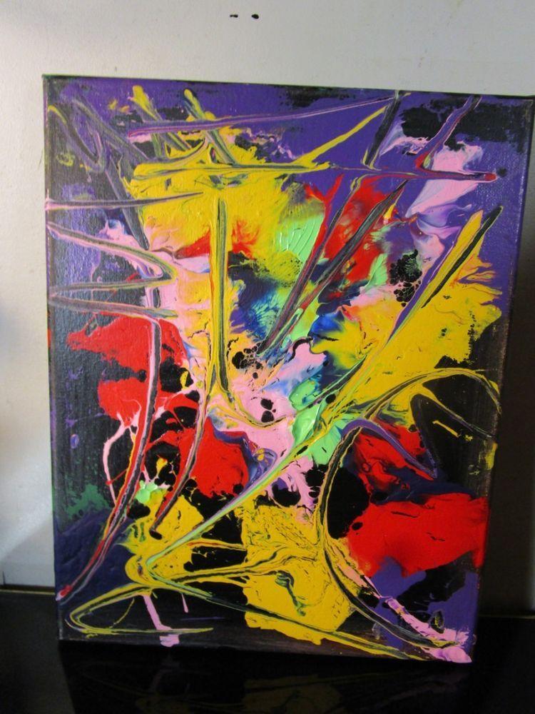Abstract Nyc Graffiti Canvas Painting By Musk Yai