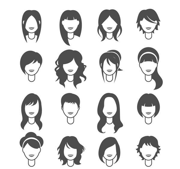 Fashion My Free Photoshop World Part 5 Womens Hairstyles Photoshop World Hair Vector