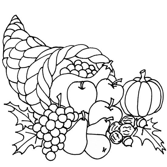 Cornucopia Thanksgiving Drawings Thanksgiving Coloring Pages Fall Coloring Pages