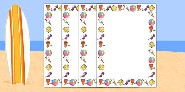 My Summer Holiday Page Borders - my summer holiday page borders, my