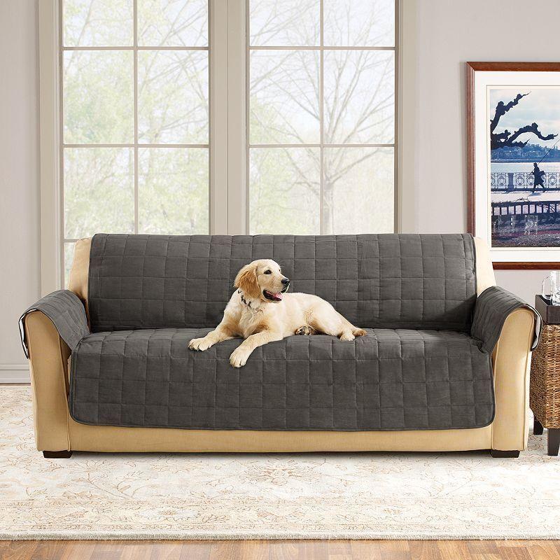Sure Fit Ultimate Waterproof Suede Sofa Cover Pet Sofa