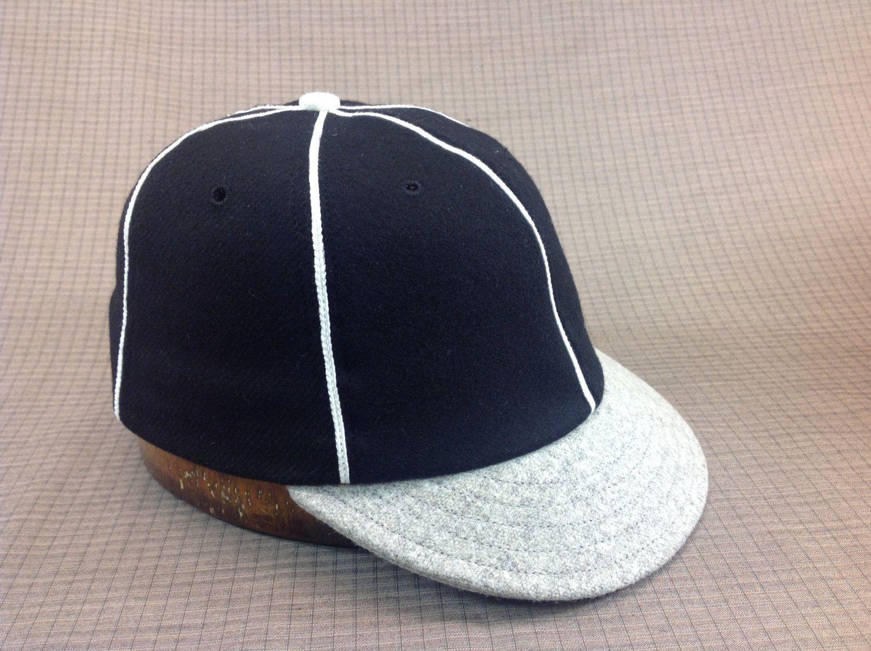 Soft 100 Wool Flannel 6 Panel Black Cap With White Soutache Etsy Wool Flannel Sweatband Custom Caps