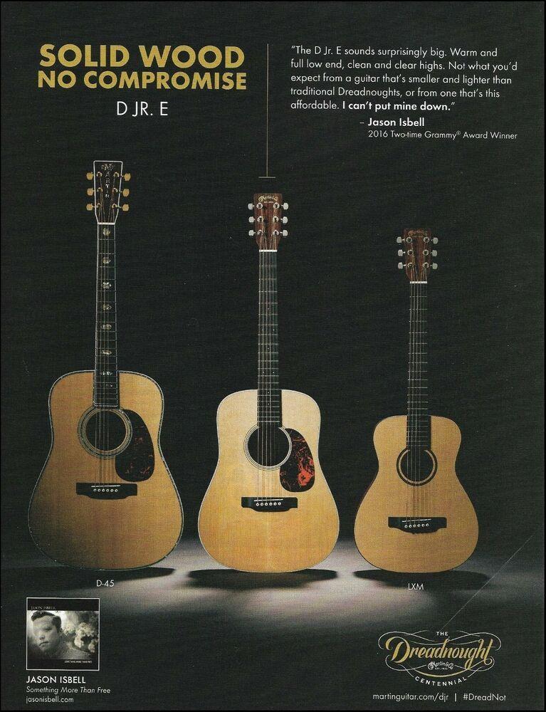 Jason Isbell Martin Dreadnought Junior D Jr E D 45 Lxm Acoustic Guitar Ad Print Martin Guitar Jason Isbell Acoustic Guitar