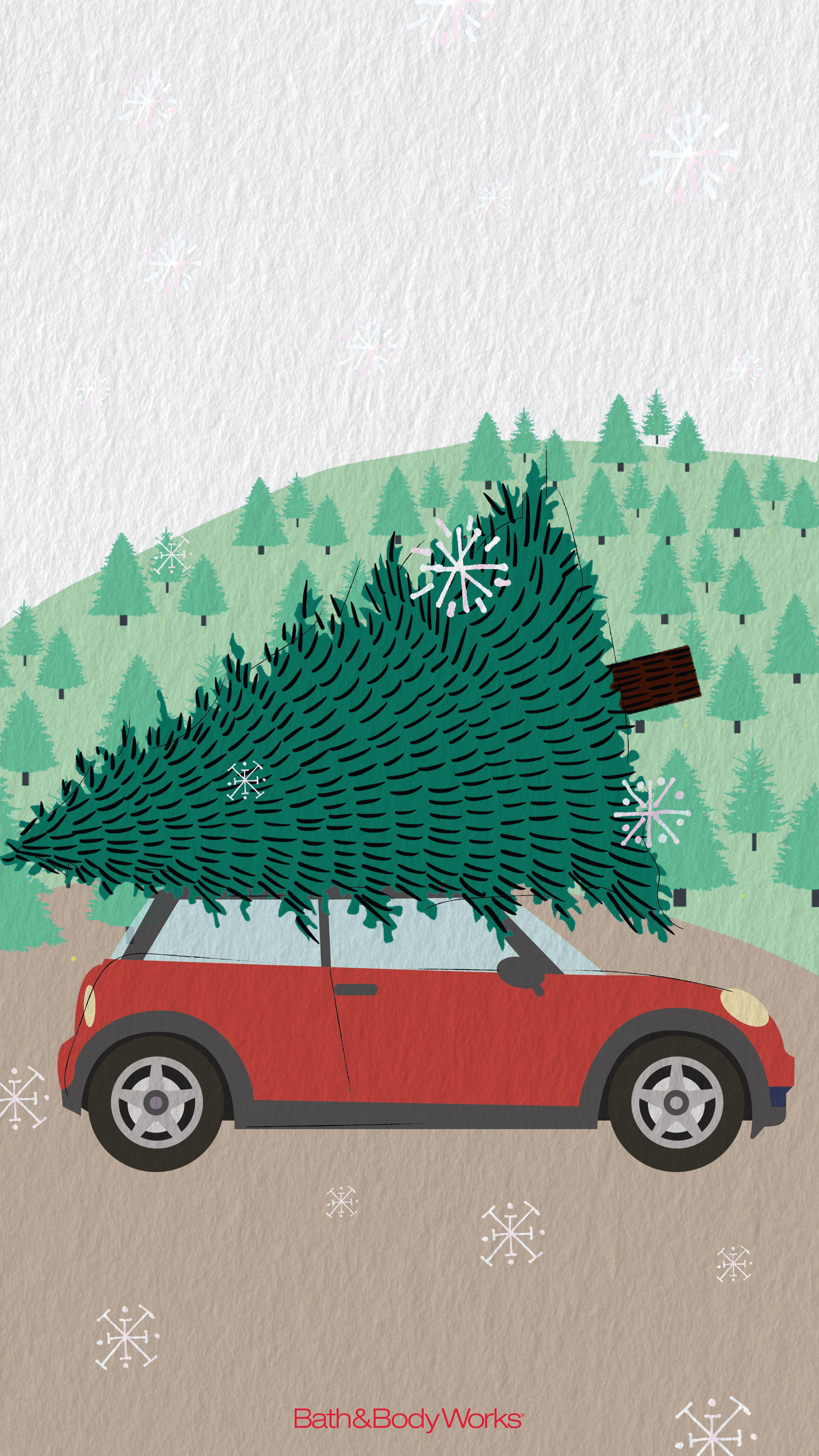 Christmas Tree Farm Wallpaper Wallpaper Iphone Christmas Christmas Illustration Xmas Wallpaper