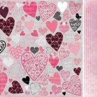 KaiserCraft 12x12 Scrapbook Paper - Dedicate Love