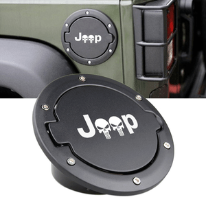 Gas Tank Cap for 2007-2017 Jeep Wrangler JK Unlimited 2-Door 4-Door USA Flag Fuel Filler Door Cover