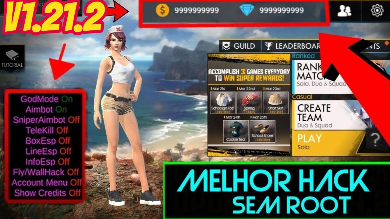Garena Free Fire Battlegrounds Hack Cheats Is Now Available To