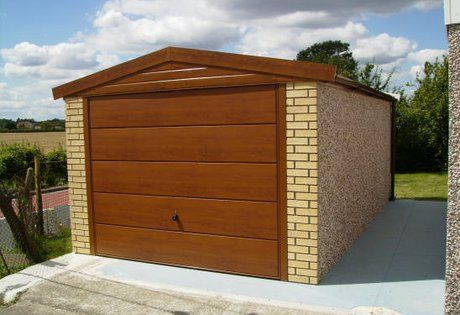 Best Brick Effect Garage With Custom Door Upvc Roof And Facias 400 x 300