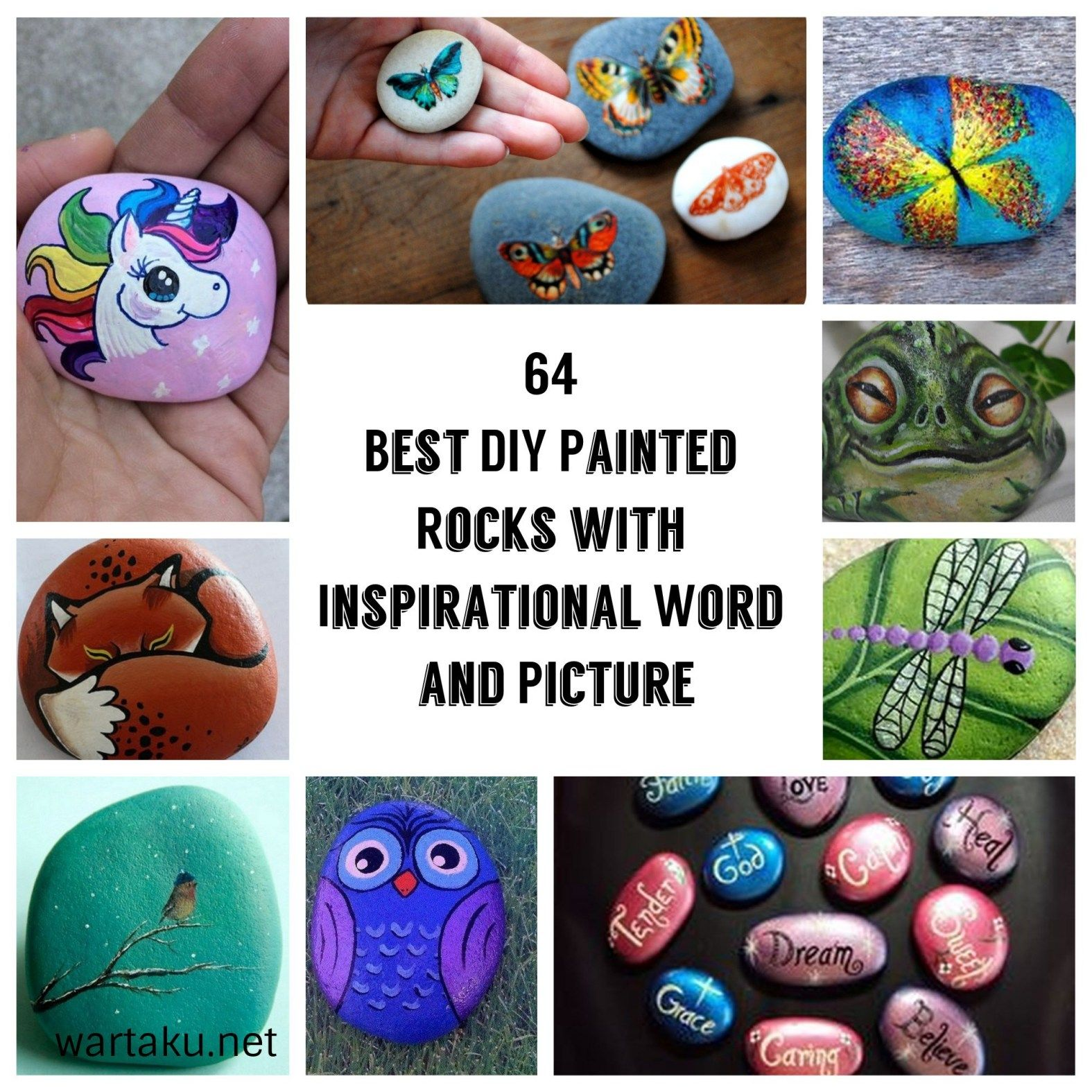 64 Best Diy Painted Rocks With Inspirational Word And Picture is part of Painted rocks diy, Diy painting, Painted rocks, Landscaping with rocks, Painting words, Rock crafts - 64 Best Diy Painted Rocks With Inspirational Word And Picture