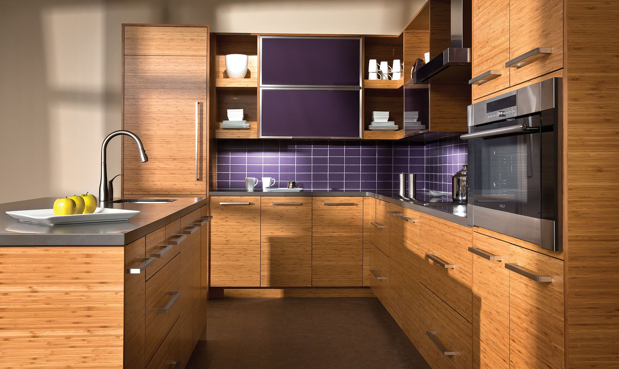 Tropical Bamboo Kitchen Design Dura Supreme Cabinetry Bamboo Cabinets Bamboo Kitchen Cabinets Kitchen Decor Modern
