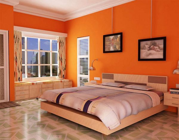 Switching Off Bedroom Colors You Should Choose To Get A Good Night S Sleep Orange Bedroom Walls Bedroom Orange Orange Bedroom Decor Cool room paint color accessories