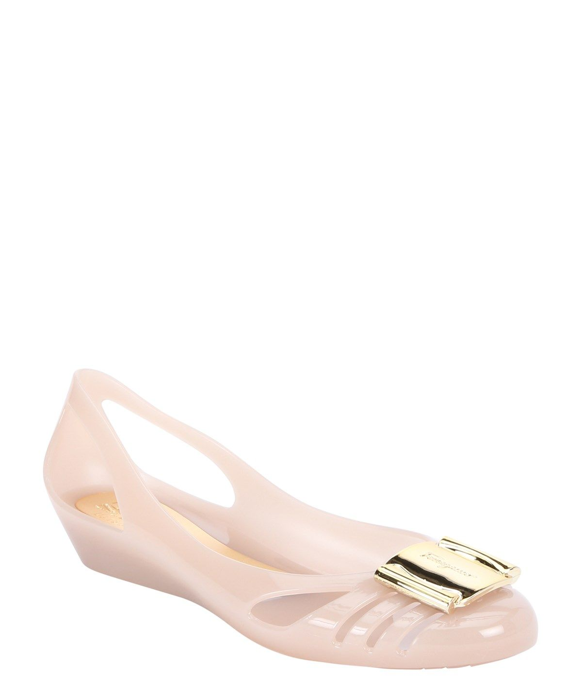 2daffc1e0dfb SALVATORE FERRAGAMO Macaron Pvc Cut-Out  Bermuda  Jelly Ballet Flats .   salvatoreferragamo  shoes  flats
