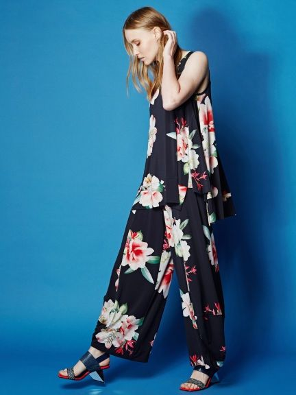 2b6a94c61b57 Floral Tulip Pant by Alembika Tulip Pants, Pull On Pants, Cropped Pants,  Graphic
