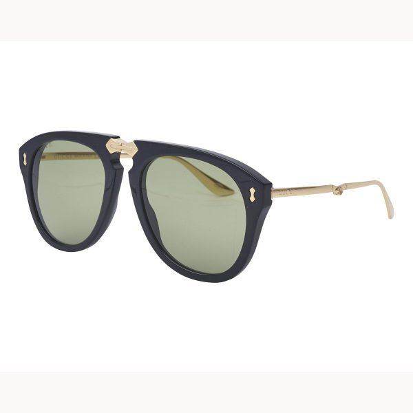 f17f8c34747 Gucci GG0305S 001 Fold-able Black Aviator Sunglasses 899.00  599.95 ...