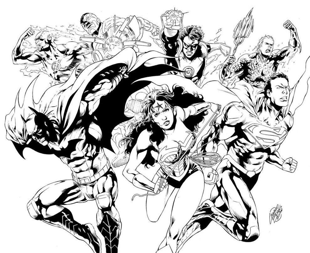 Pin de SUSIE Petri en LineArt: DC Comics | Pinterest