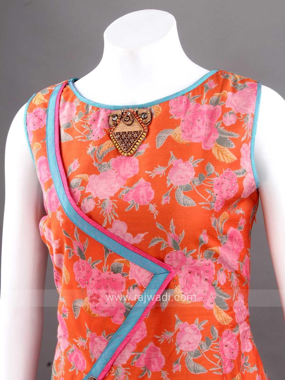 Art silk floral print long kurti fouziya pinterest kurti silk