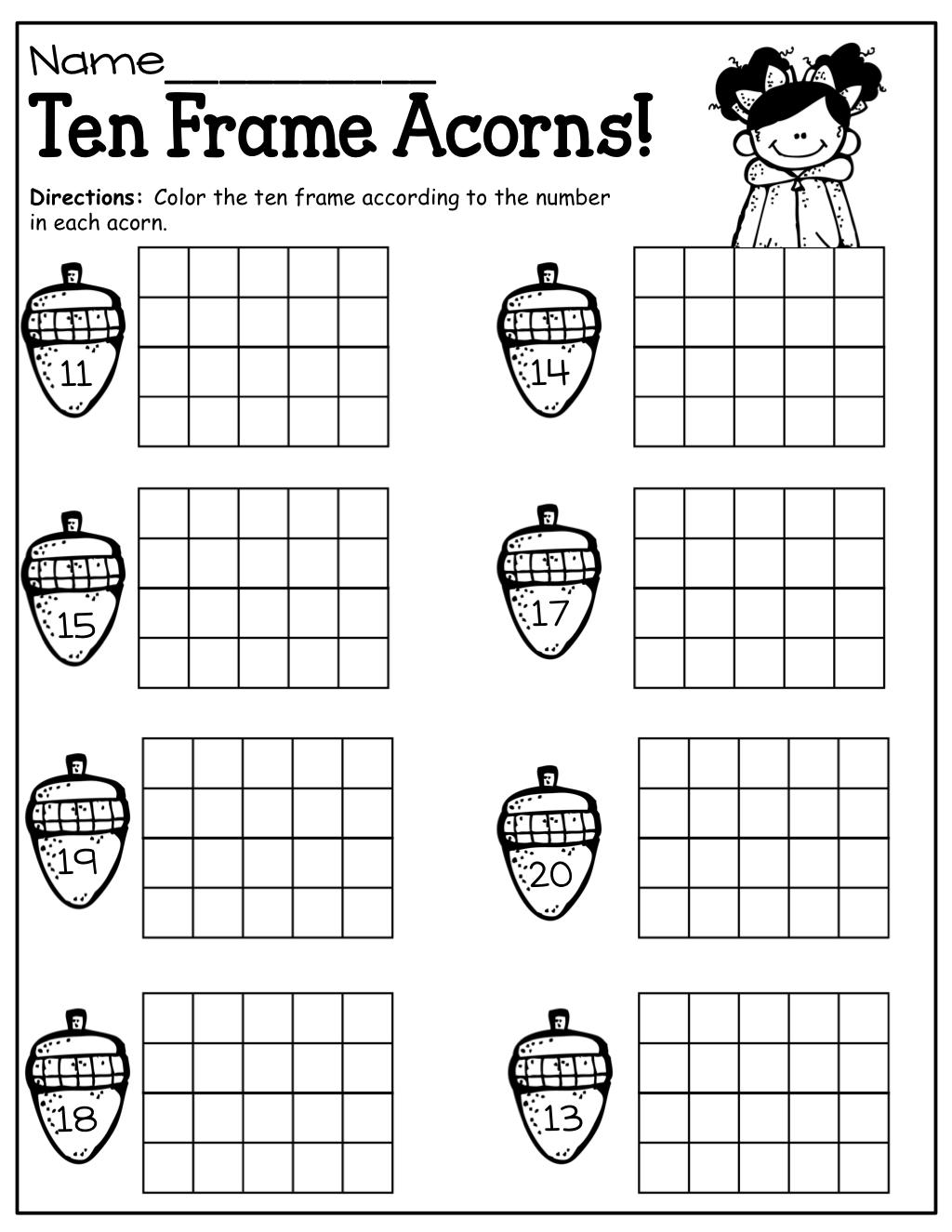 Ten Frame Math For Fall Early Childhood Math Prek 2