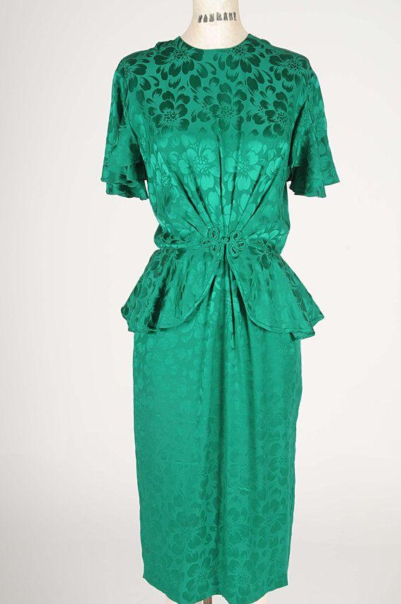 Vintage 1980/'s Saks Fifth Avenue silk peplum blouse