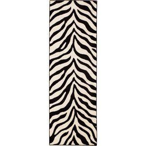 hometrends zebra accent rug black ivory i like pinterest