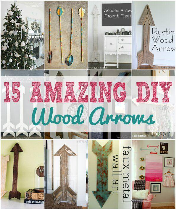 Wood Diy Arrows 15 Ways To Make Your Own Diy Home Decor
