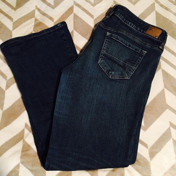 American Eagle Favorite Boyfriend Jeans Size 12 Wonderful pair of stretch flare jeans. No tears gentle wear. American Eagle Outfitters Jeans