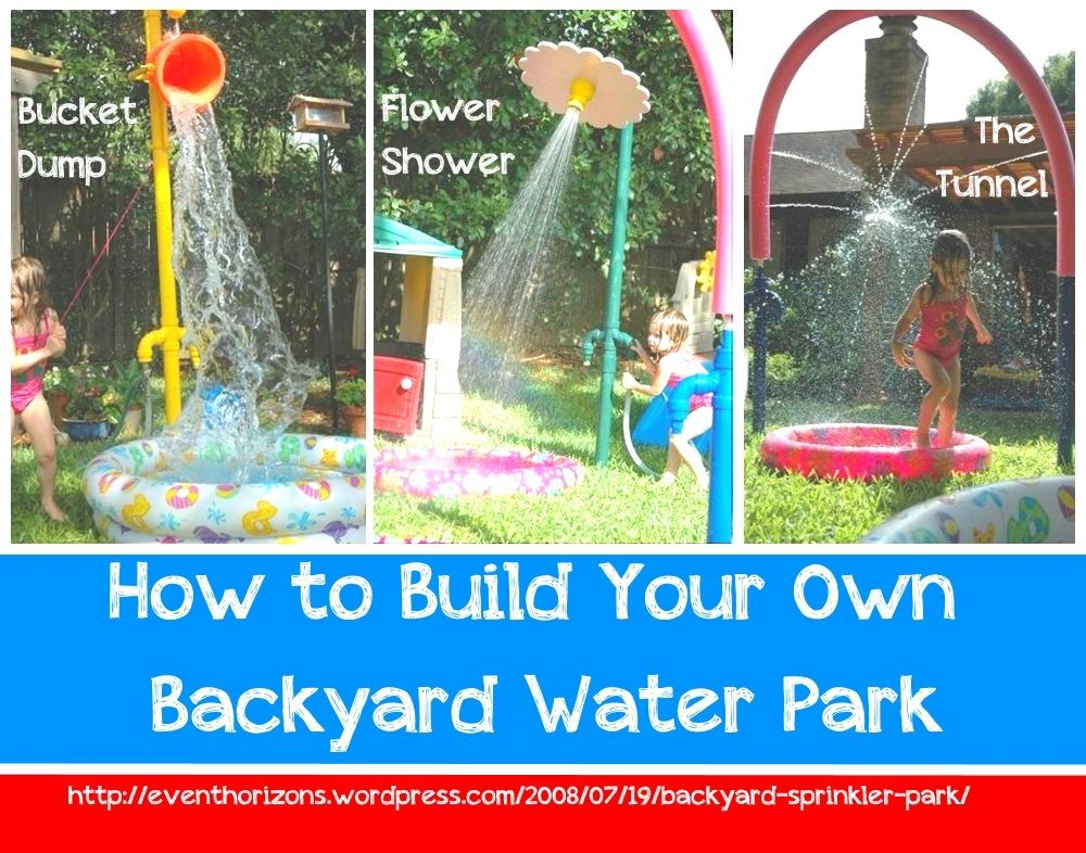 How To Build A Backyard Water Park backyard sprinkler park   marti land.   pinterest   backyard water