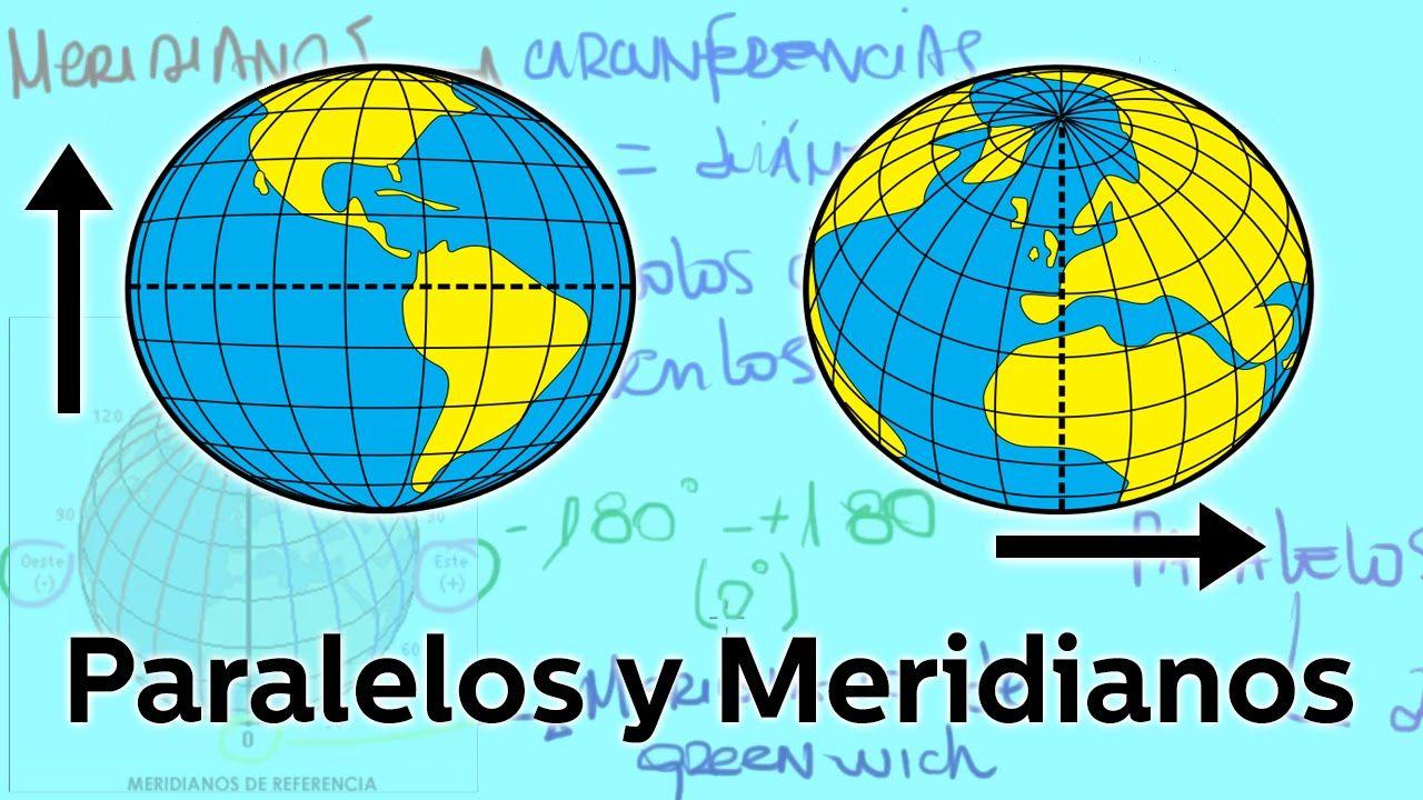 Resultado de imagen de practicar meridianos y paralelos