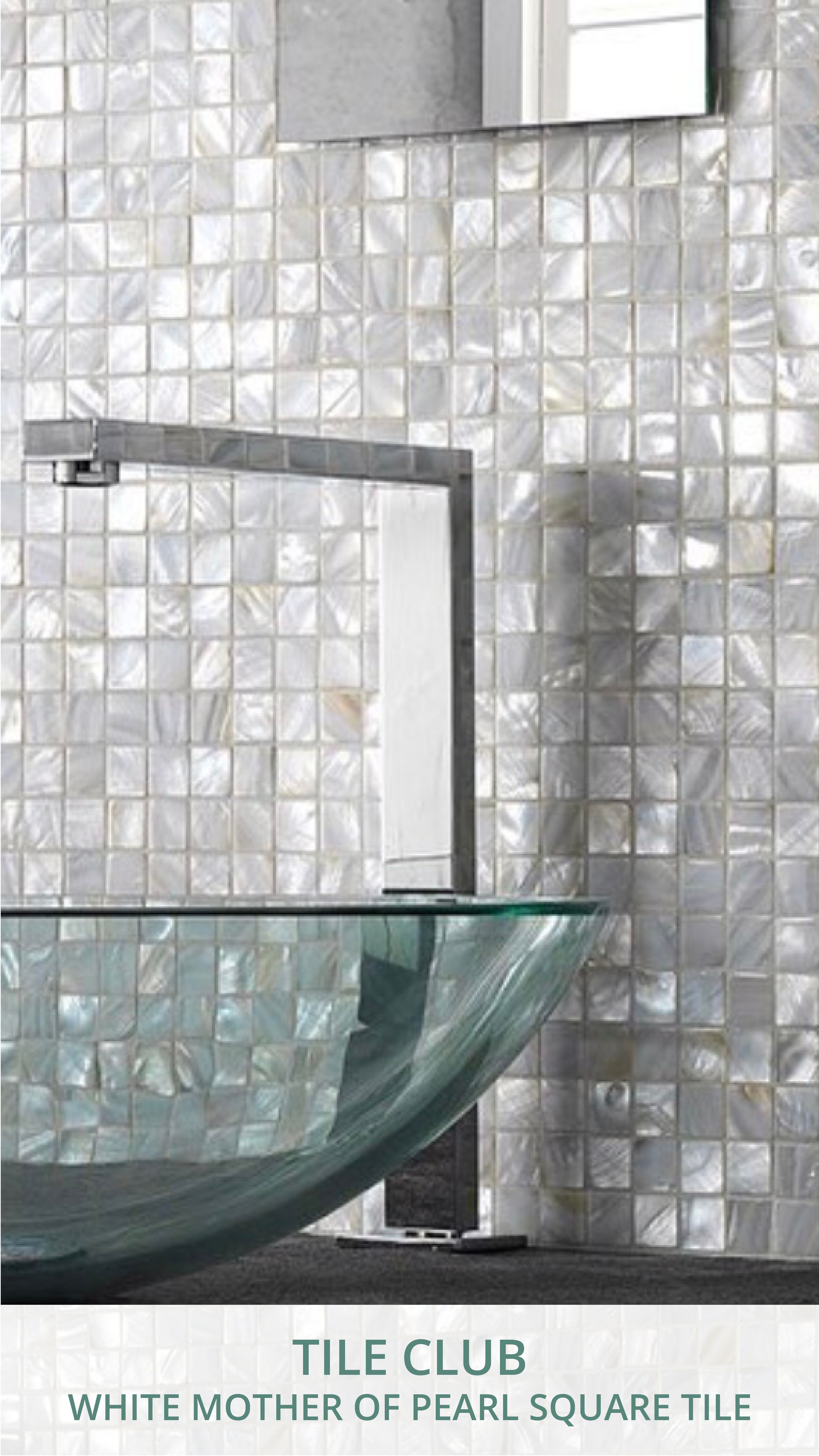 White Mother Of Pearl 1 Luxury House Designs Pearl Tile Modern Interior Design